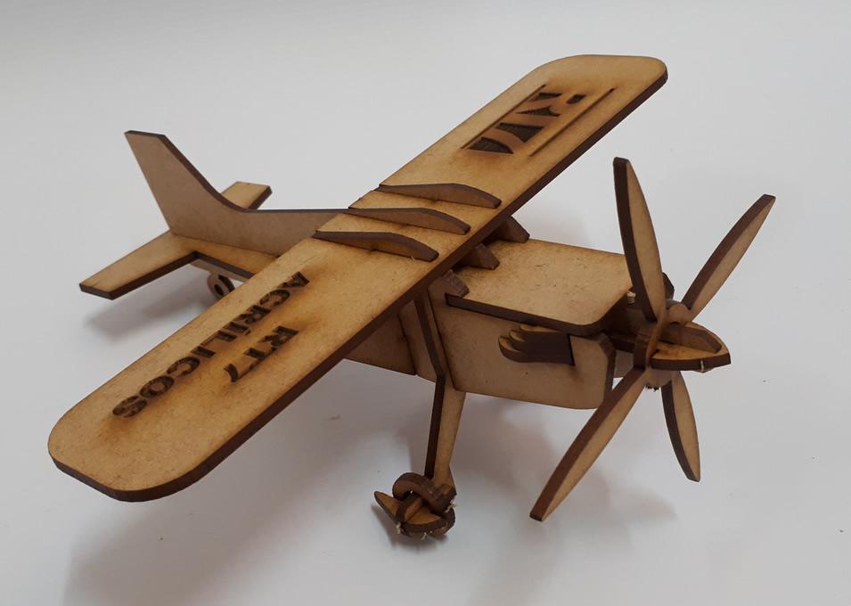 Quebra Cabeça de Avião em MDF