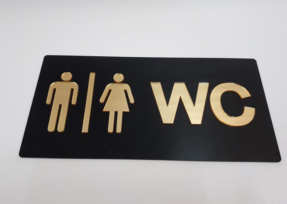 Placa de Banheiros