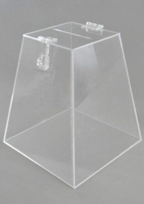 Urna em Piramide de Acrílico