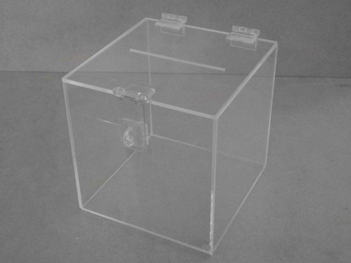 Urna cm Acrílico Quadrada 15x15x15cm