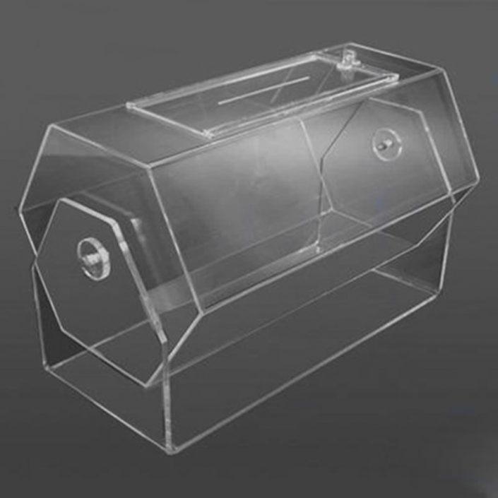 Urna Giratória Balcão 50cm de Acrílico